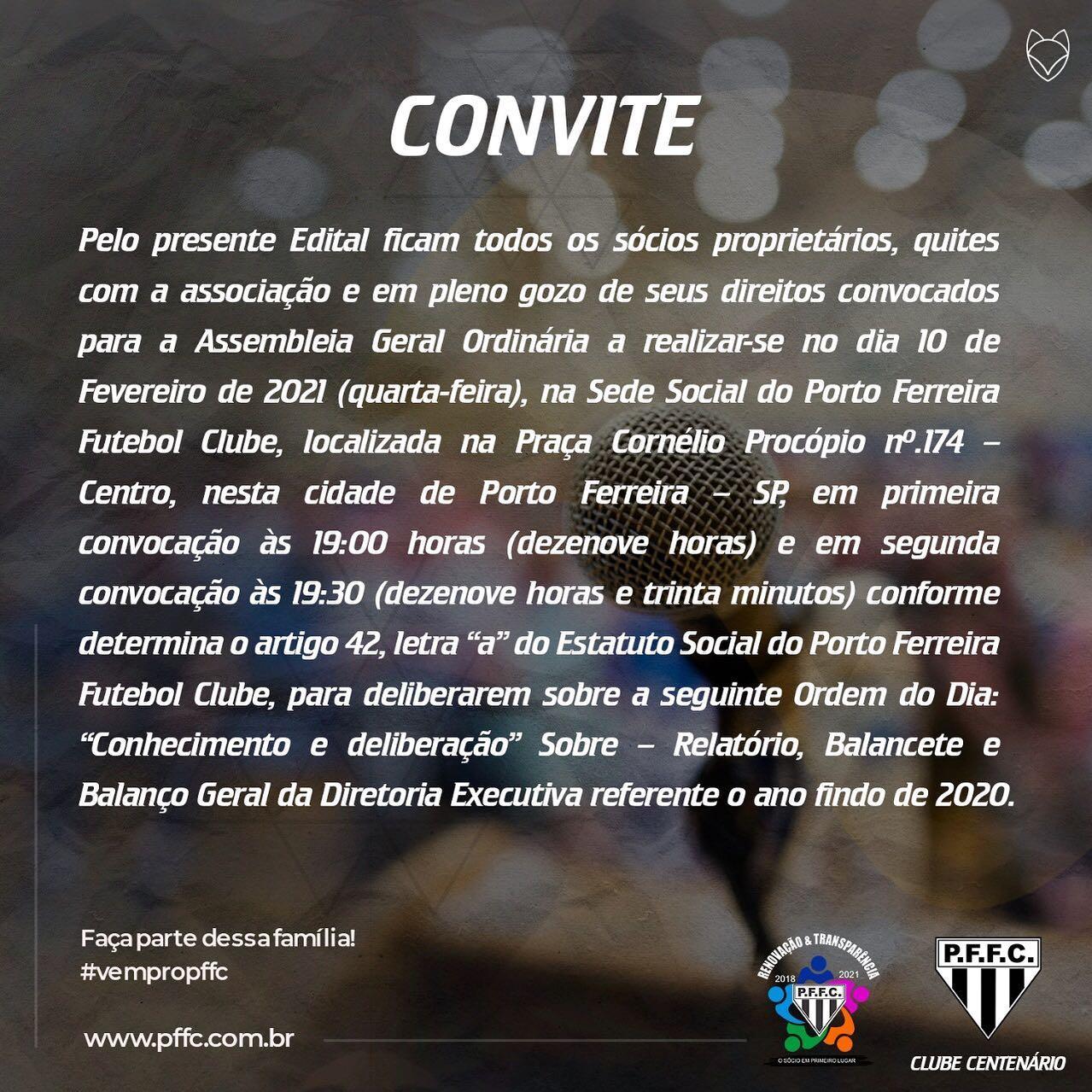 Convite aos Associados