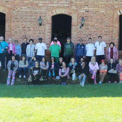Projeto Caminhada Integração Ecológica PFFC, visitam a fazenda histórica Santa Mariana